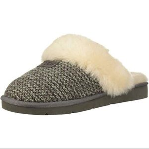 New UGG Cozy Knit Slipper, Charcoal Grey, 8